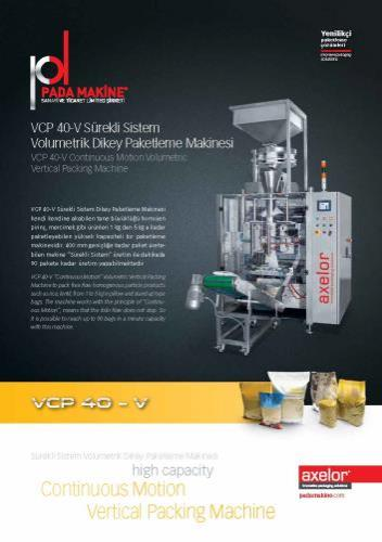 CONTINUOUS VERTICAL PACKING MACHINE